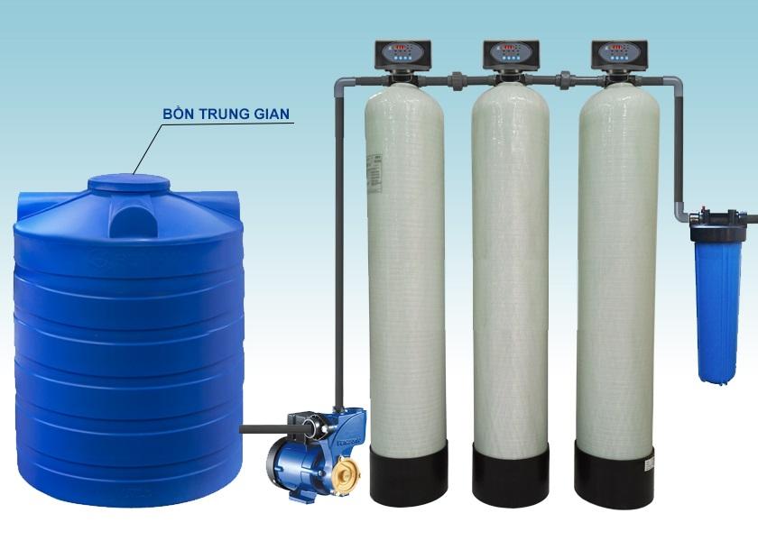Bộ lọc nước tổng Composite 3 cột lọc
